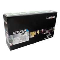 Lexmark C734A1CG Cyan Toner Return Programme Cartridge (6k)