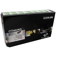 Lexmark C734A1KG Black Toner Return Programme Cartridge (8k)