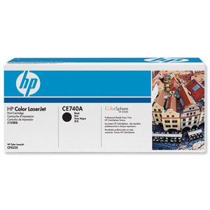 HP CE740A Black Toner Cartridge