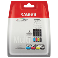 Canon CLI551 Pack of Black, Cyan, Magenta and Yellow