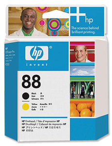 HP C9381A Black and Yellow Printheads