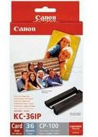 Canon KC36IP Credit Card Size Paper and Ink Set