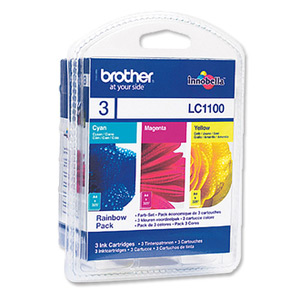 Brother LC1100 Rainbow Pack (3 Cartridges)