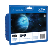 Brother LC1280XLBKBP Black High Yield Ink Cartridge Twin Pack
