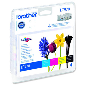 Brother LC970 Value Pack of Four Cartridges