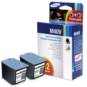 Samsung INK-M40V/ELS Black Ink Cartridge TwinPack