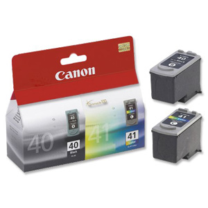 Canon 40 and 41 Pack[Both cartridges included!]