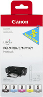 Canon PGI9 Photo Black, Cyan, Magenta, Yellow and Grey Multipack