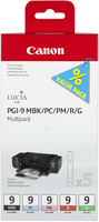 Canon PGI9 Matte Black, Photo Cyan, Photo Magenta, Red and Green Multipack