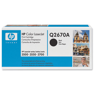 HP Q2670A Black Toner Cartridge (6k)