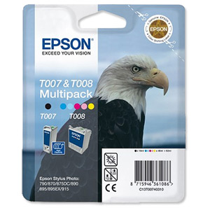 Epson T007403 Black and Colour Pack