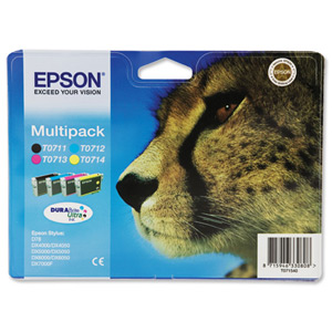 Epson T0715 Value Pack[Four individual inks!]