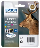 Epson T1306 Value Pack[Three colour cartridges included]