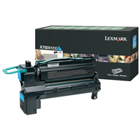 Lexmark X792X1CG Cyan Extra High Yield Return Programme Toner